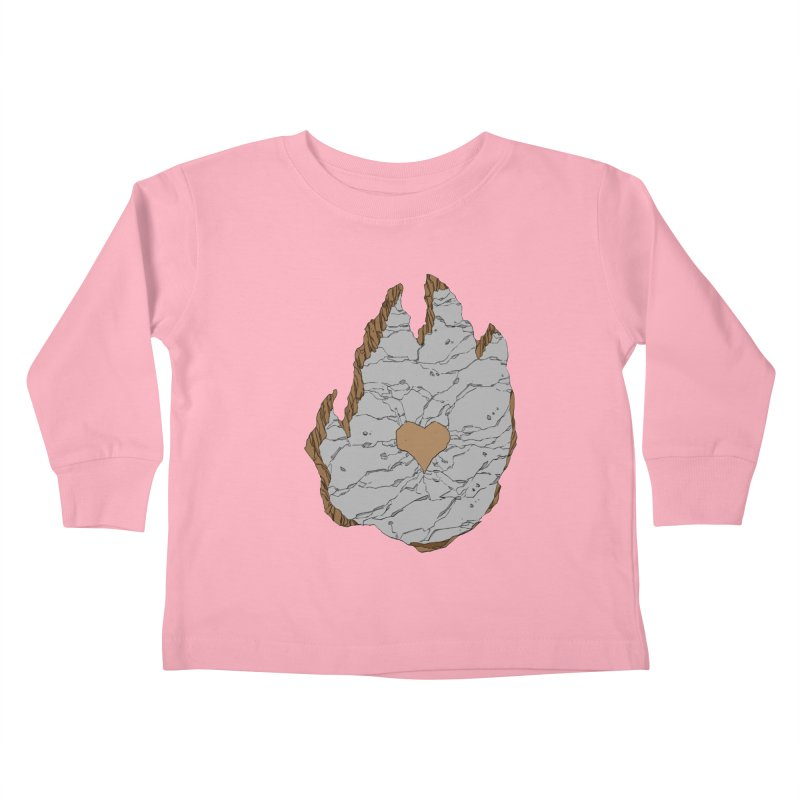 Footprint Heart by Phil Hester Kids Toddler Longsleeve T-Shirt by Devil's Due Entertainment Depot