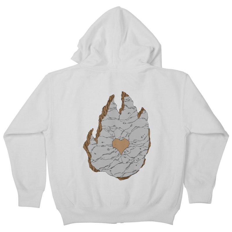 Footprint Heart by Phil Hester Kids Zip-Up Hoody by Devil's Due Entertainment Depot