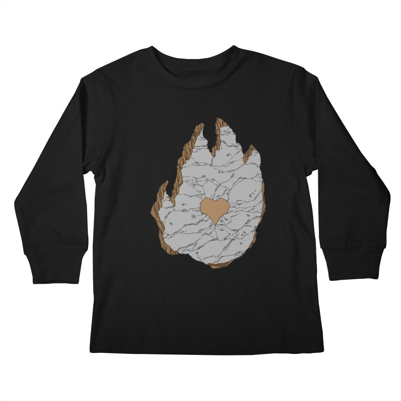 Footprint Heart by Phil Hester Kids Longsleeve T-Shirt by Devil's Due Entertainment Depot
