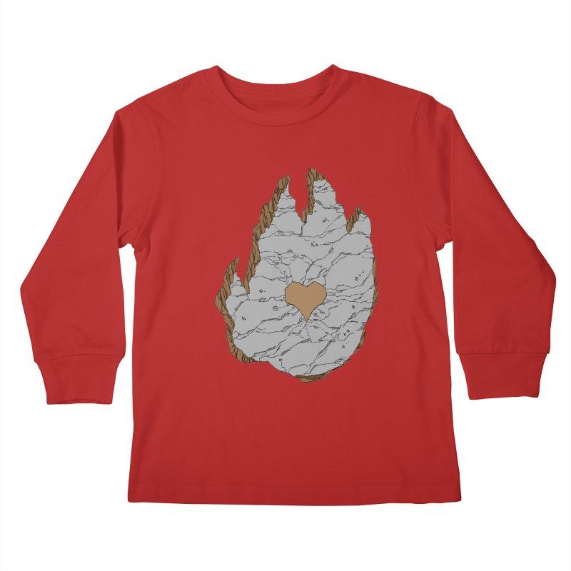 Footprint Heart by Phil Hester Kids Longsleeve T-Shirt by Devil's Due Entertainment Depot
