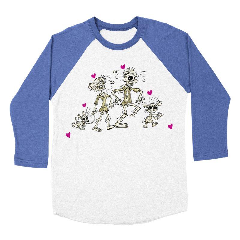 Zombie Family by Art Baltazar Women's Baseball Triblend T-Shirt by Devil's Due Entertainment Depot
