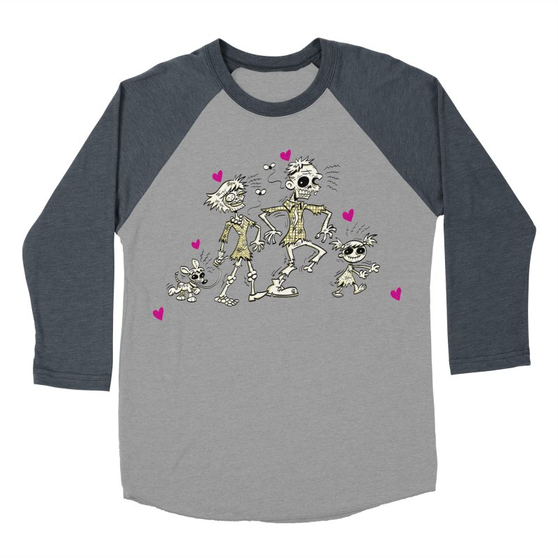 Zombie Family by Art Baltazar Women's Baseball Triblend Longsleeve T-Shirt by Devil's Due Entertainment Depot