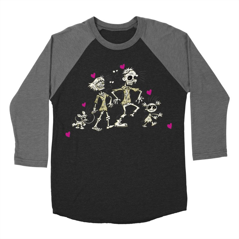 Zombie Family by Art Baltazar Men's Baseball Triblend Longsleeve T-Shirt by Devil's Due Entertainment Depot