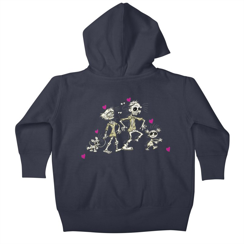 Zombie Family by Art Baltazar Kids Baby Zip-Up Hoody by Devil's Due Comics