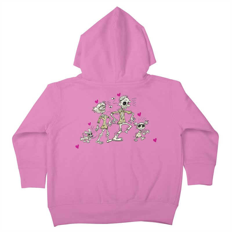 Zombie Family by Art Baltazar Kids Toddler Zip-Up Hoody by Devil's Due Comics