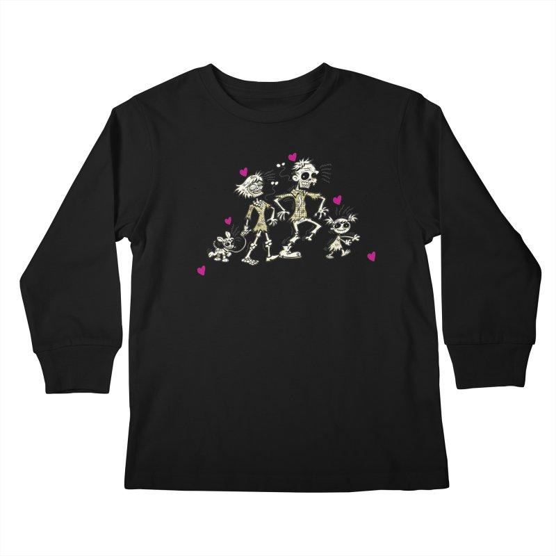 Zombie Family by Art Baltazar Kids Longsleeve T-Shirt by Devil's Due Entertainment Depot