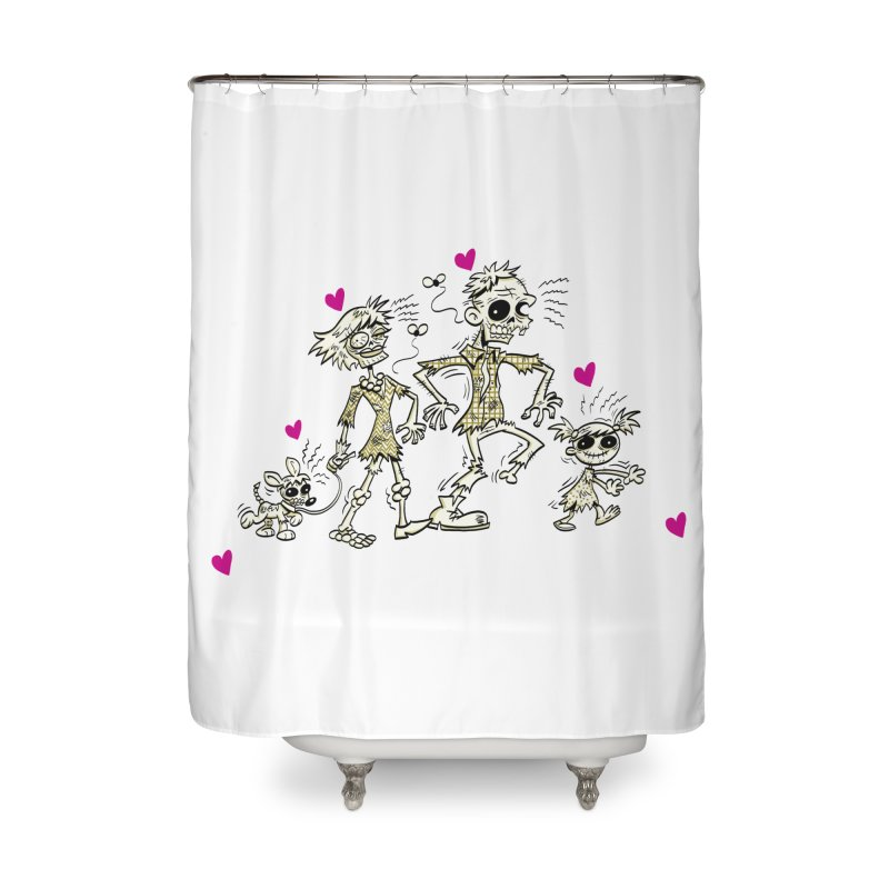 Zombie Family by Art Baltazar Home Shower Curtain by Devil's Due Comics