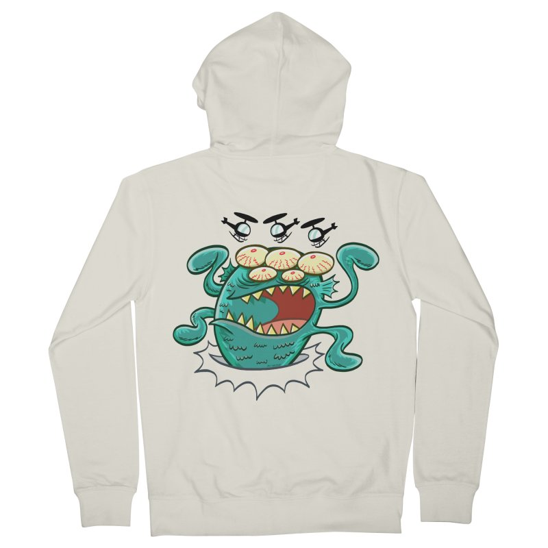 Hella-copters! by Art Baltazar Men's Zip-Up Hoody by Devil's Due Entertainment Depot