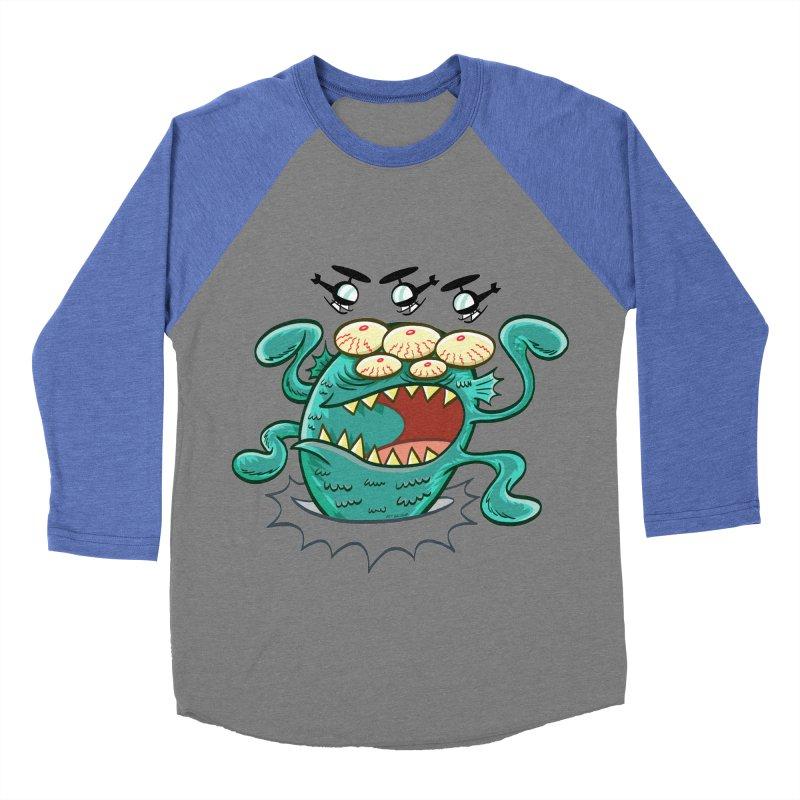 Hella-copters! by Art Baltazar Women's Baseball Triblend T-Shirt by Devil's Due Entertainment Depot