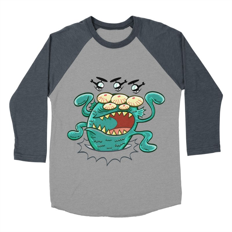 Hella-copters! by Art Baltazar Men's Baseball Triblend T-Shirt by Devil's Due Entertainment Depot