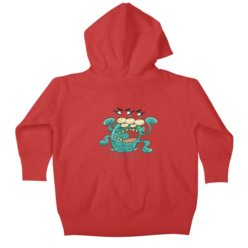 Hella-copters! by Art Baltazar Kids Baby Zip-Up Hoody by Devil's Due Comics