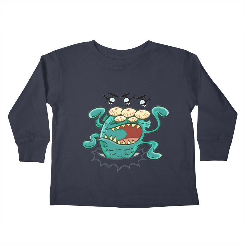 Hella-copters! by Art Baltazar Kids Toddler Longsleeve T-Shirt by Devil's Due Comics