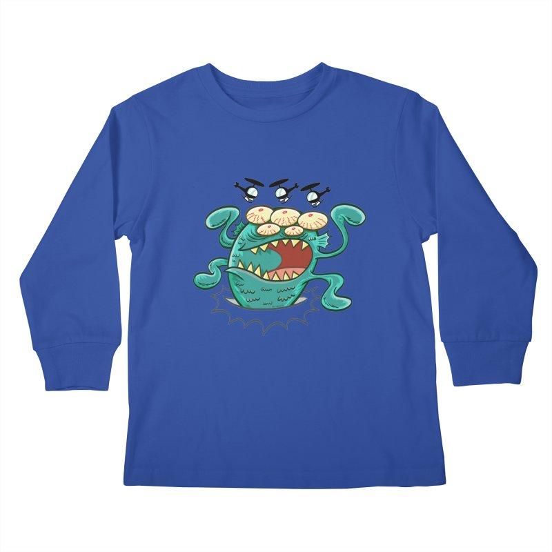 Hella-copters! by Art Baltazar Kids Longsleeve T-Shirt by Devil's Due Comics