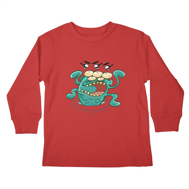 Hella-copters! by Art Baltazar Kids Longsleeve T-Shirt by Devil's Due Comics