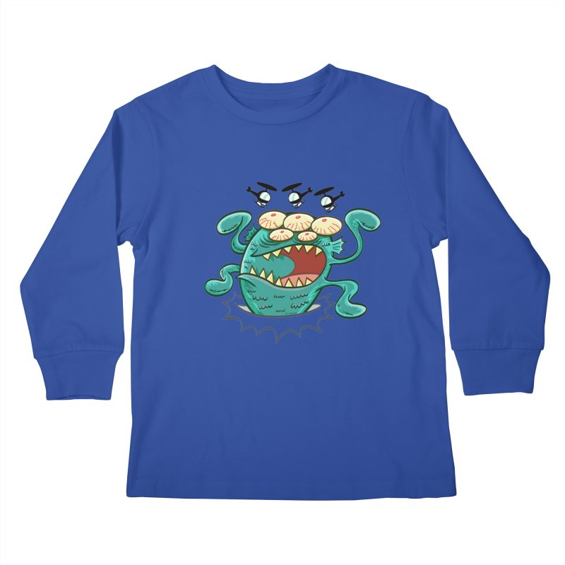 Hella-copters! by Art Baltazar Kids Longsleeve T-Shirt by Devil's Due Entertainment Depot