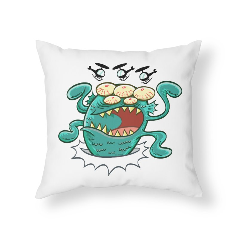 Hella-copters! by Art Baltazar Home Throw Pillow by Devil's Due Comics