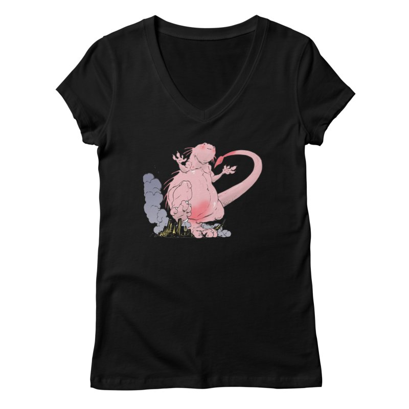 Kill 'em with Cuteness by Tim Seeley Women's Regular V-Neck by Devil's Due Entertainment Depot