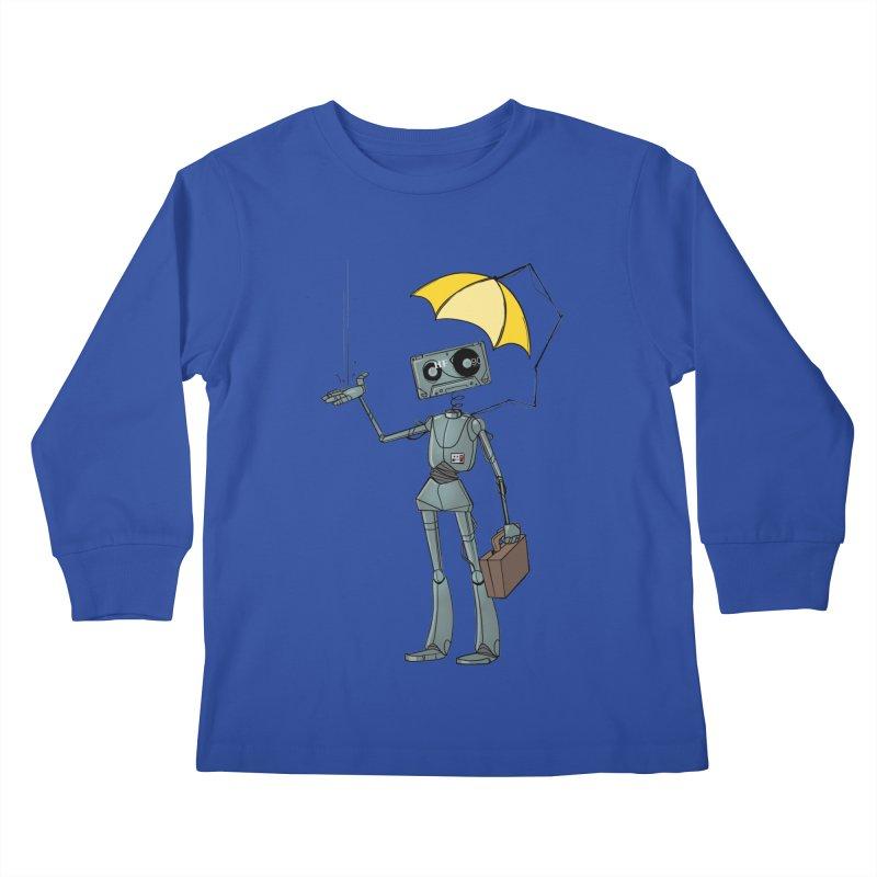 Mr. Mixtape by K Lynn Smith Kids Longsleeve T-Shirt by Devil's Due Comics
