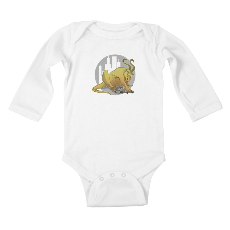 Vroom vroom! by K Lynn Smith Kids Baby Longsleeve Bodysuit by Devil's Due Comics