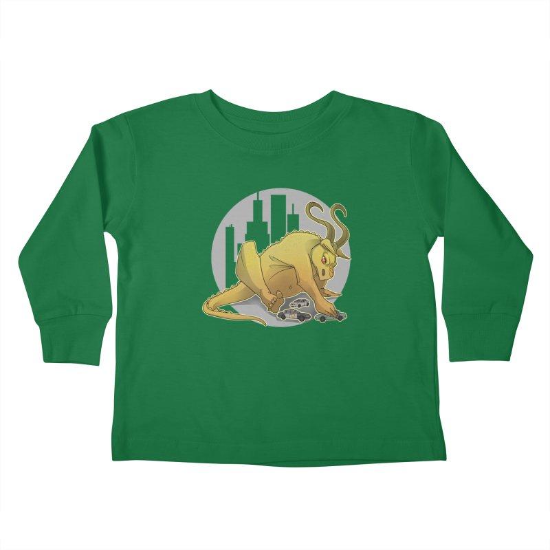 Vroom vroom! by K Lynn Smith Kids Toddler Longsleeve T-Shirt by Devil's Due Entertainment Depot