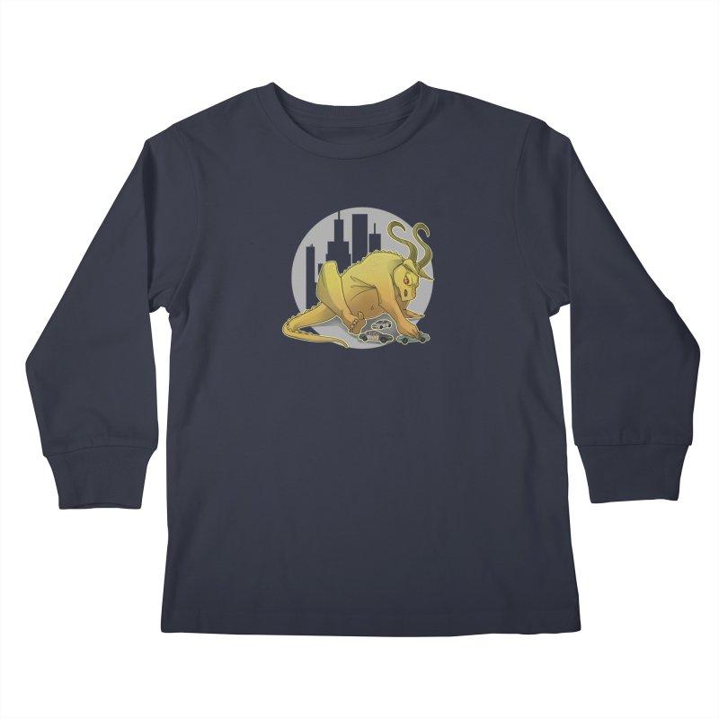 Vroom vroom! by K Lynn Smith Kids Longsleeve T-Shirt by Devil's Due Comics