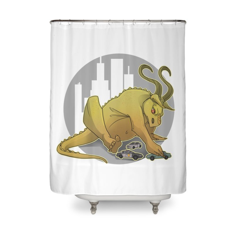 Vroom vroom! by K Lynn Smith Home Shower Curtain by Devil's Due Comics
