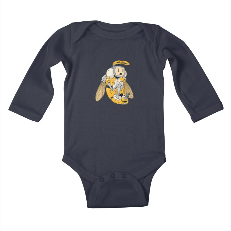 Buzz! by Tim Seeley Kids Baby Longsleeve Bodysuit by Devil's Due Comics