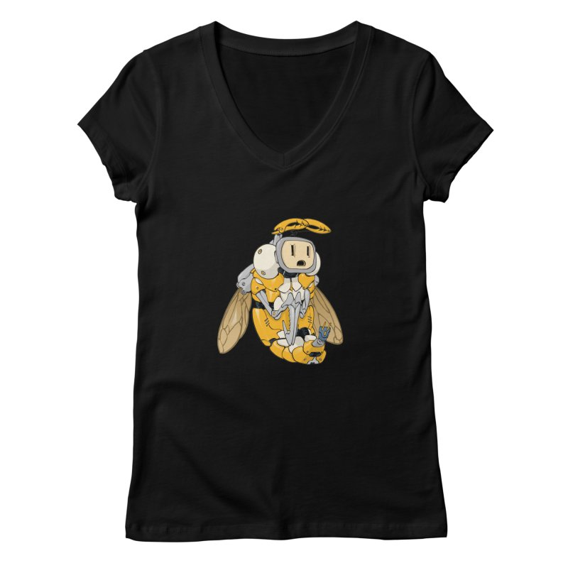 Buzz! by Tim Seeley Women's V-Neck by Devil's Due Comics