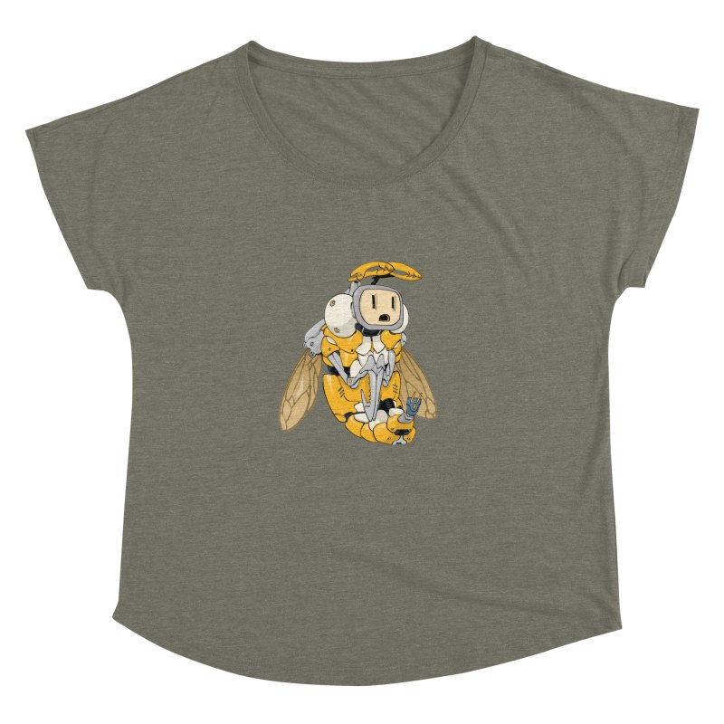 Buzz! by Tim Seeley Women's Dolman Scoop Neck by Devil's Due Comics