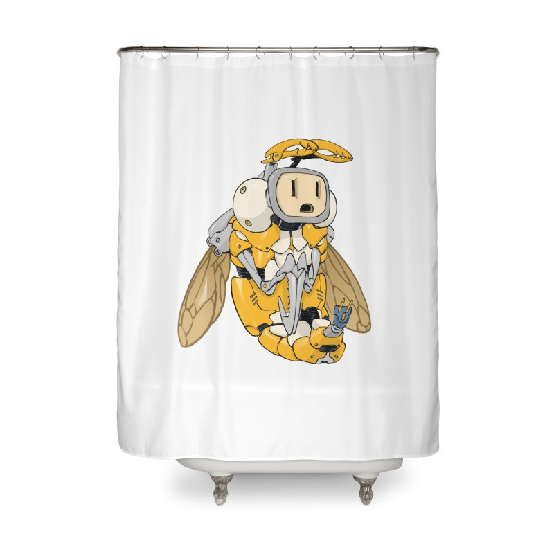 Buzz! by Tim Seeley Home Shower Curtain by Devil's Due Comics