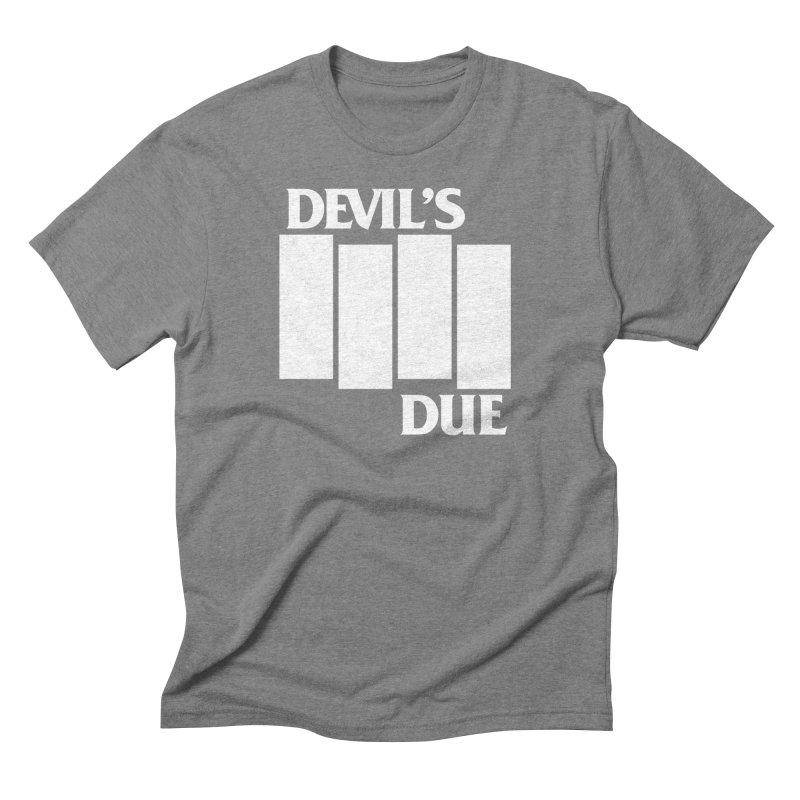 Devil's Due Flag Men's Triblend T-Shirt by Devil's Due Entertainment Depot