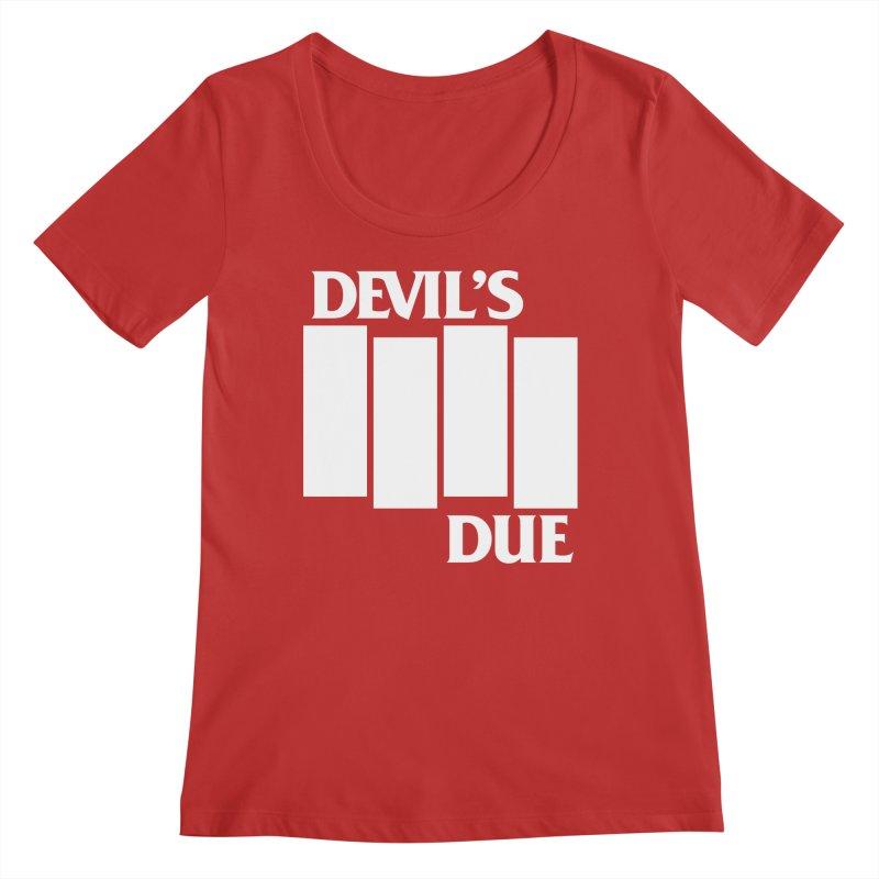 Devil's Due Flag Women's Regular Scoop Neck by Devil's Due Comics