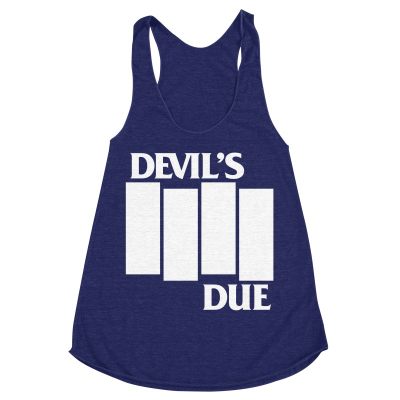 Devil's Due Flag Women's Racerback Triblend Tank by Devil's Due Comics