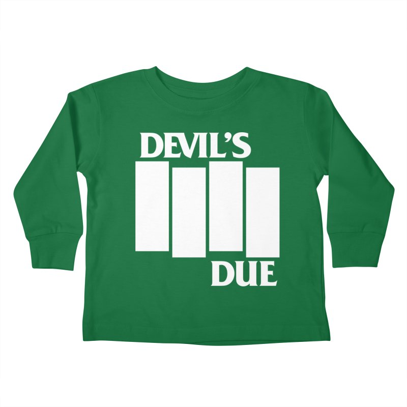 Devil's Due Flag Kids Toddler Longsleeve T-Shirt by Devil's Due Entertainment Depot