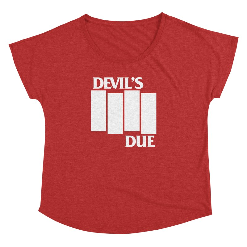 Devil's Due Flag Women's Dolman Scoop Neck by Devil's Due Comics