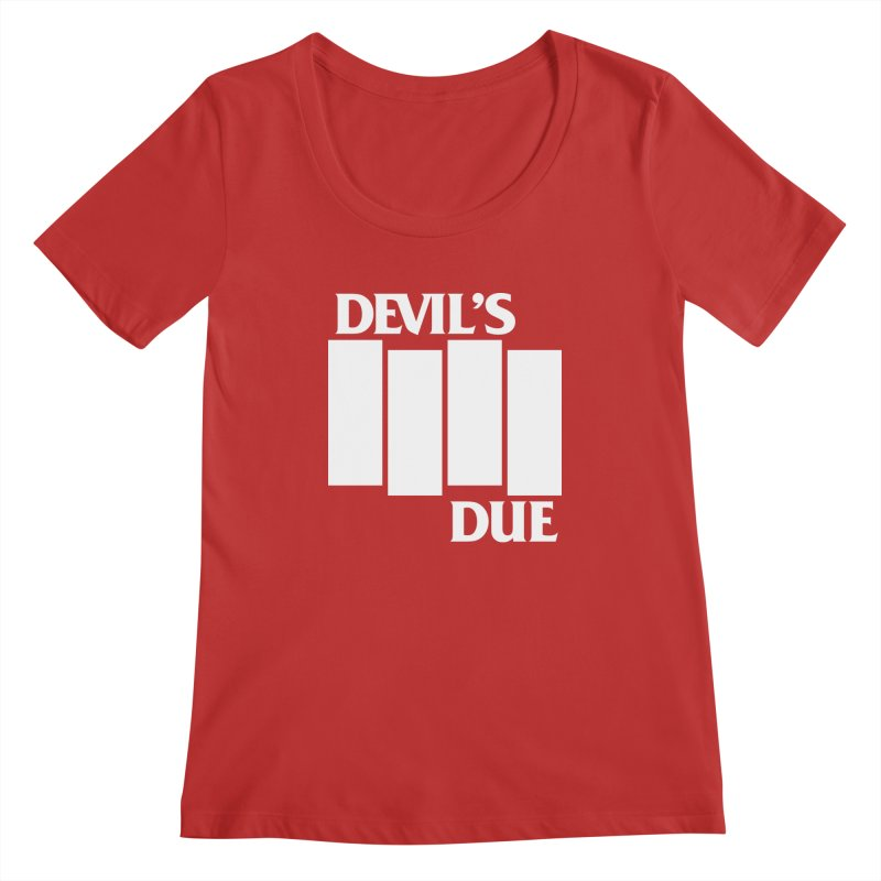 Devil's Due Flag Women's Regular Scoop Neck by Devil's Due Entertainment Depot