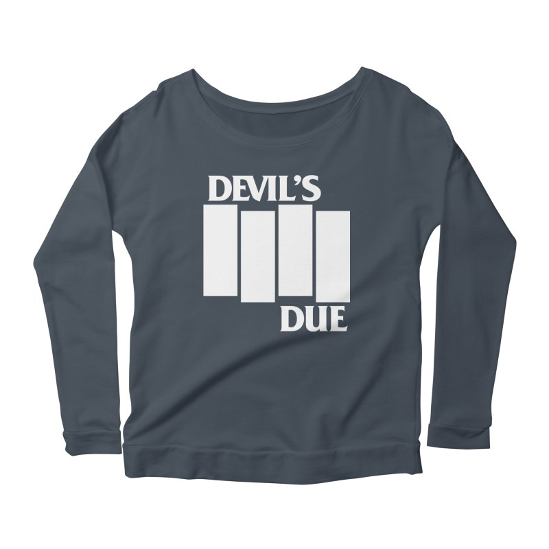 Devil's Due Flag Women's Longsleeve Scoopneck  by Devil's Due Entertainment Depot