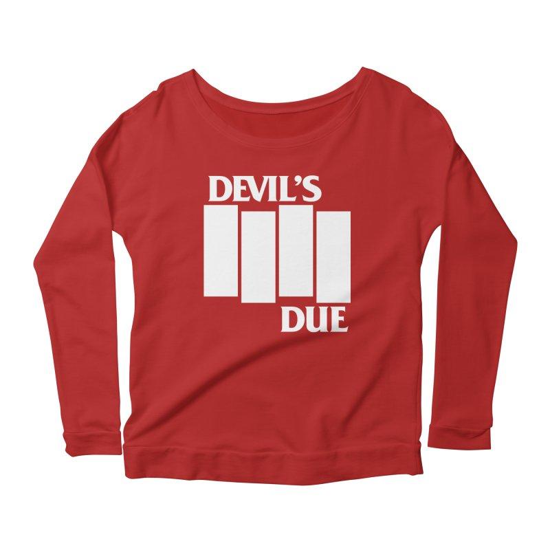 Devil's Due Flag Women's Longsleeve Scoopneck  by Devil's Due Entertainment Depot