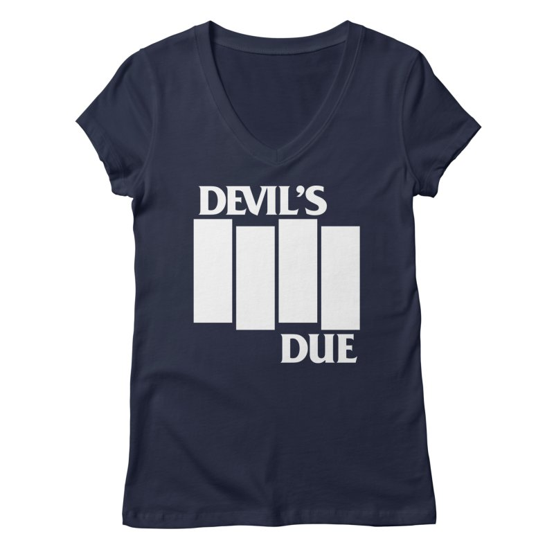 Devil's Due Flag Women's Regular V-Neck by Devil's Due Comics