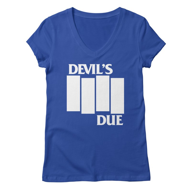 Devil's Due Flag Women's Regular V-Neck by Devil's Due Comics