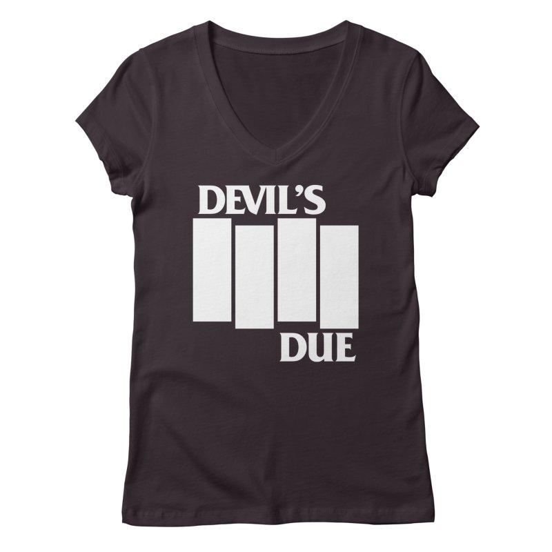 Devil's Due Flag Women's Regular V-Neck by Devil's Due Entertainment Depot