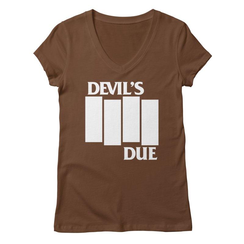 Devil's Due Flag Women's V-Neck by Devil's Due Entertainment Depot