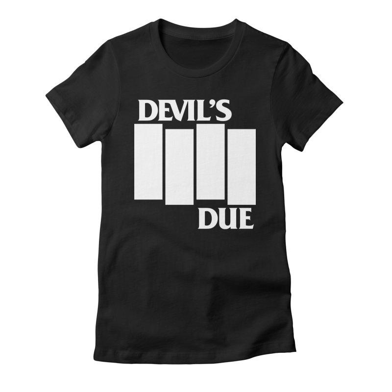 Devil's Due Flag Women's Fitted T-Shirt by Devil's Due Comics