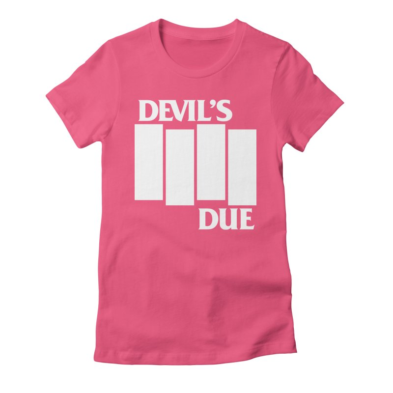 Devil's Due Flag Women's Fitted T-Shirt by Devil's Due Entertainment Depot