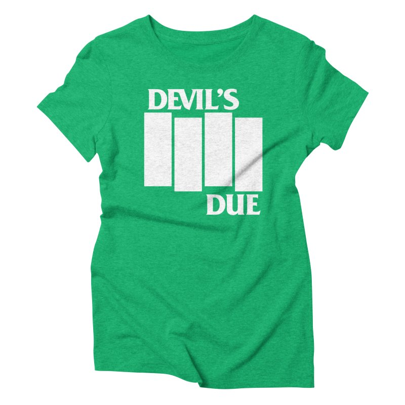 Devil's Due Flag Women's Triblend T-Shirt by Devil's Due Entertainment Depot