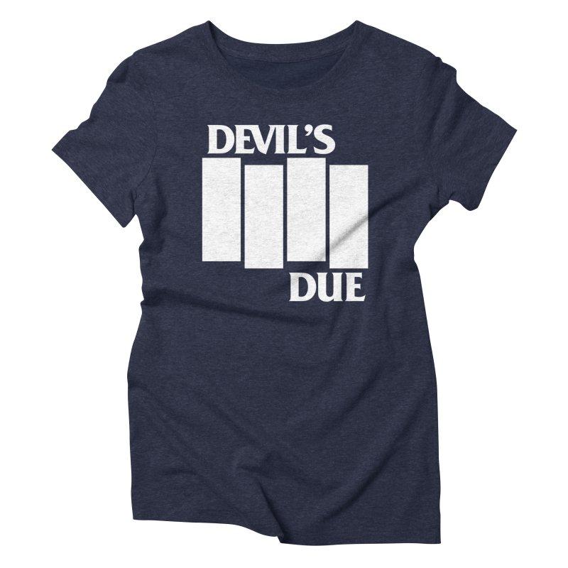 Devil's Due Flag Women's Triblend T-shirt by Devil's Due Entertainment Depot