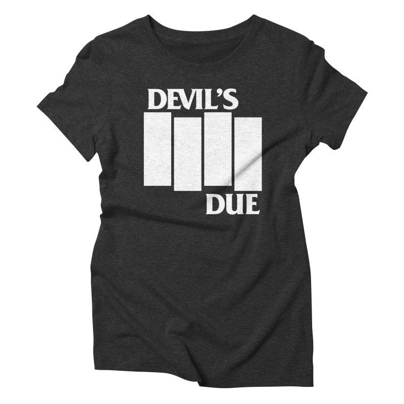 Devil's Due Flag Women's Triblend T-Shirt by Devil's Due Comics