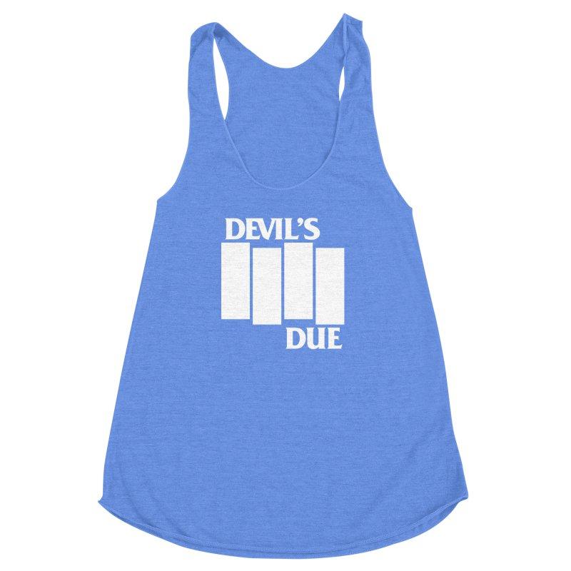 Devil's Due Flag Women's Racerback Triblend Tank by Devil's Due Entertainment Depot