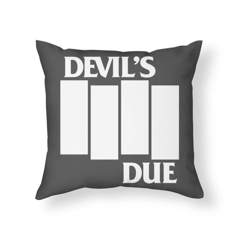 Devil's Due Flag Home Throw Pillow by Devil's Due Entertainment Depot