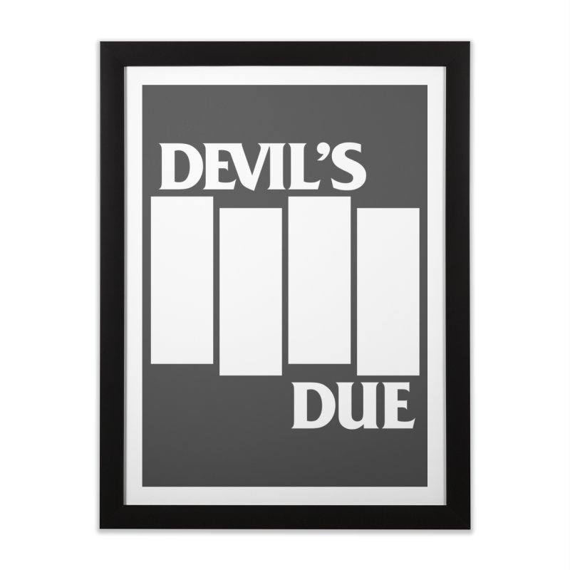 Devil's Due Flag Home Framed Fine Art Print by Devil's Due Entertainment Depot